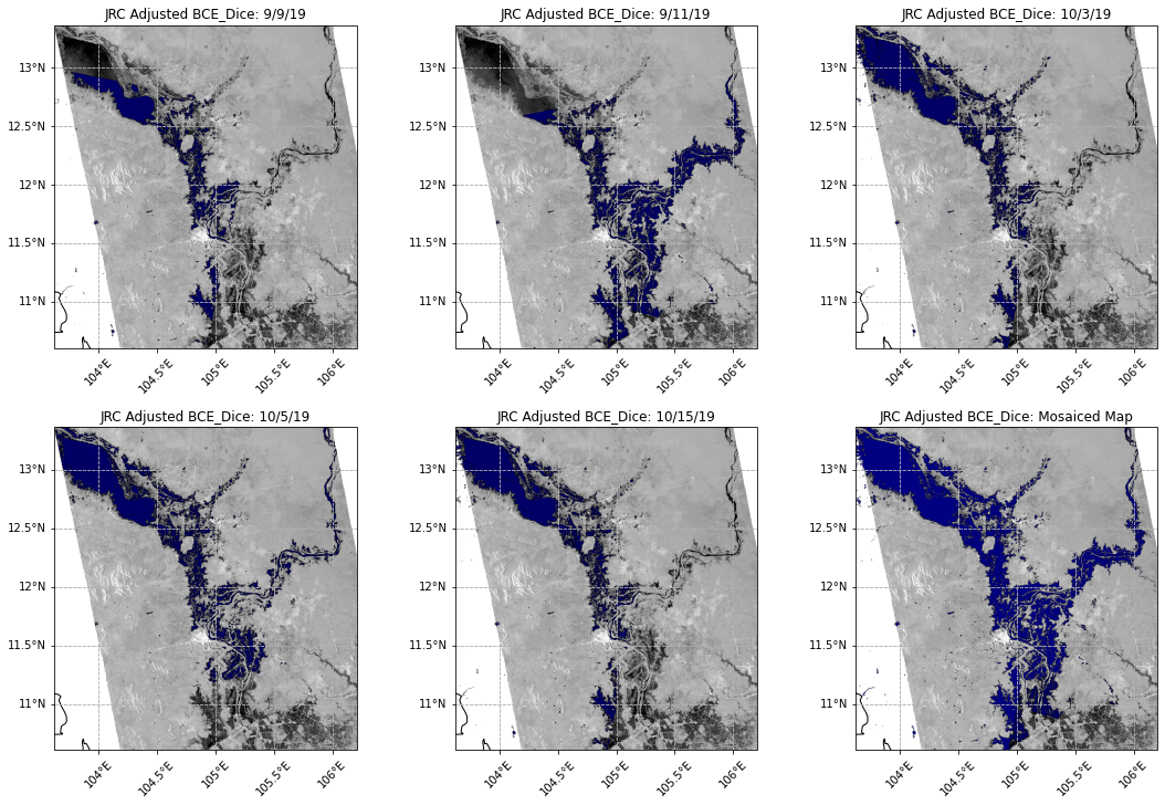 Surface Water Detected by the BCE Algorithm